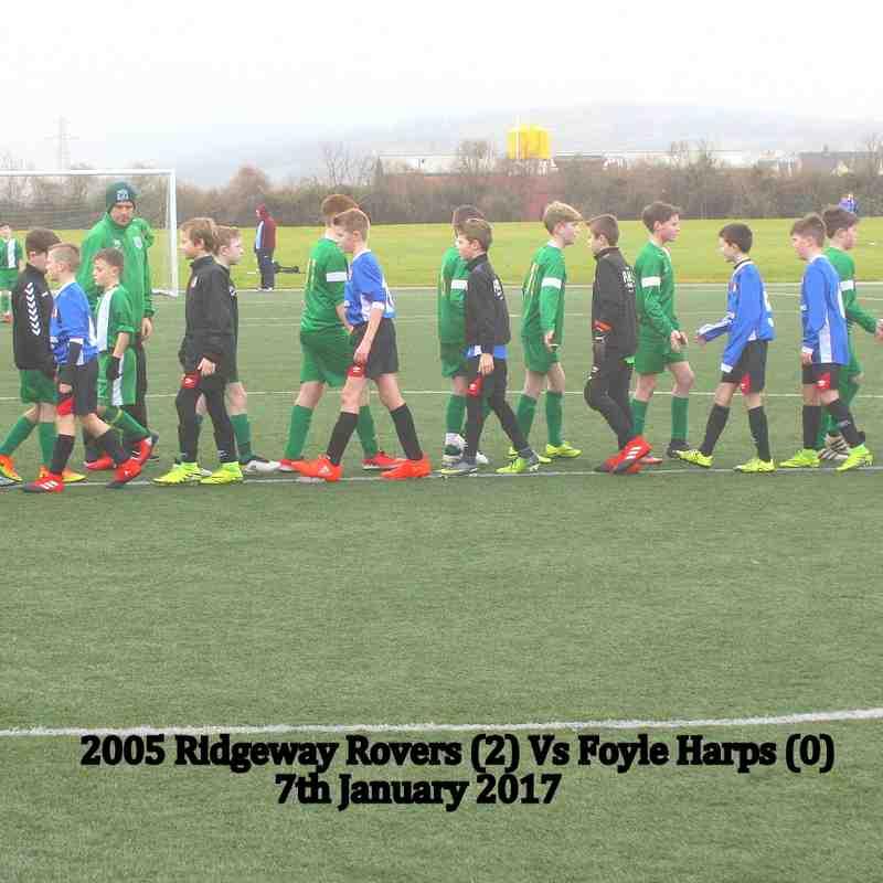 2005 Rovers (2) Vs Foyle Harps (0) 7th January 2017