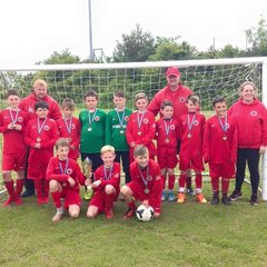 Under 11's 2015 Ormskirk WE tournament winners