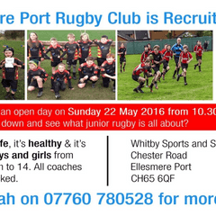 Open Morning for Junior Rugby Sunday May 22nd