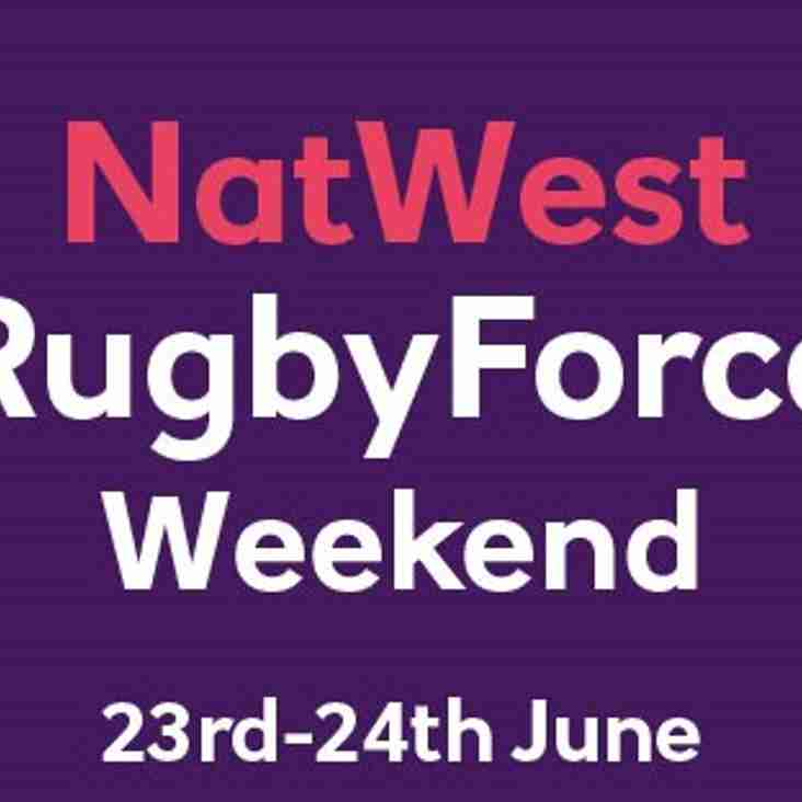 NATWEST RUGBY FORCE 2018 - 23RD & 24TH JUNE