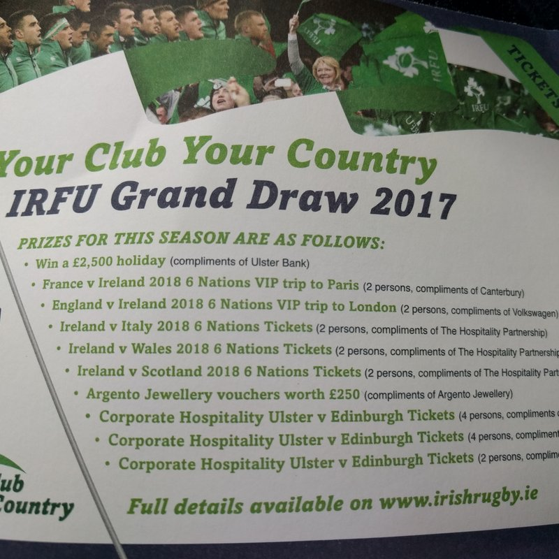 2017 Your Club, Your Country Draw