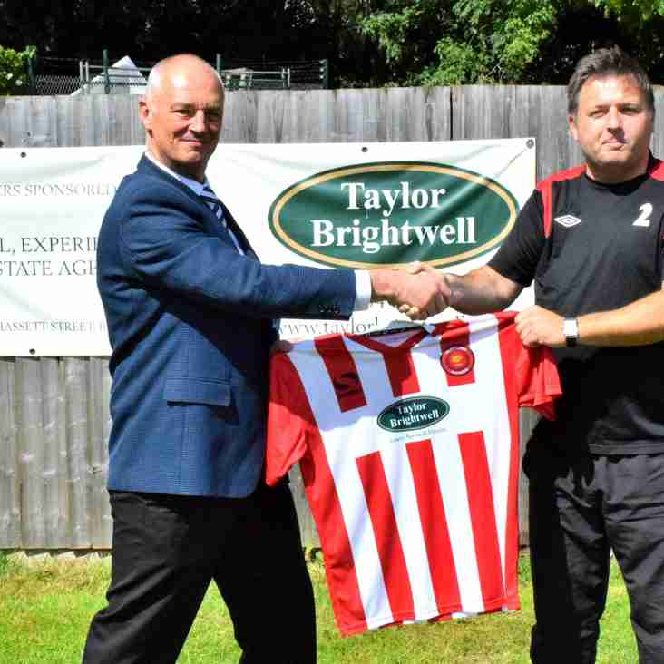 Home shirt sponsor - Taylor Brightwell Estate Agents & Valuers
