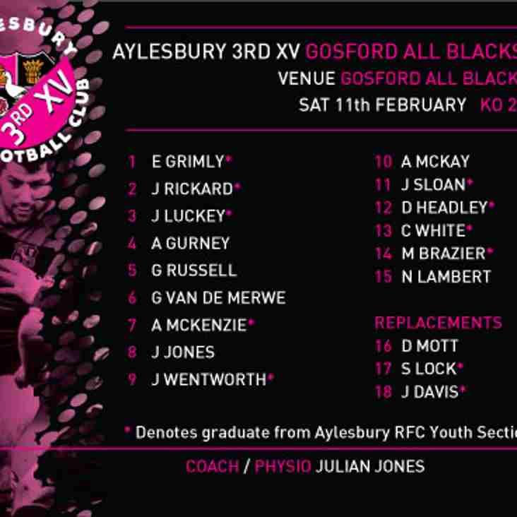 3rd XV v Gosford All Blacks RFC