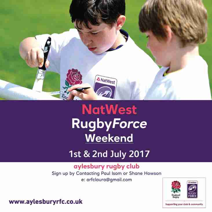 NatWest Rugby Force - tell us how you can help