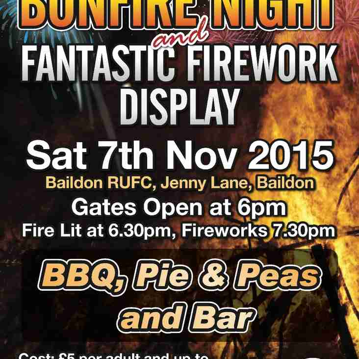 Bonfire Night @ Baildon Rugby Club