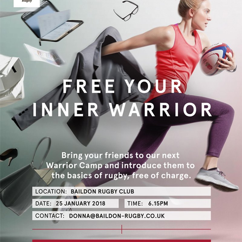 Womens & Girls Inner Warrior Rugby Event - Try Rugby for FREE
