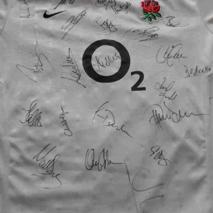James Quigley, Winner  Of The Signed England Shirt In Aid Of The NSPCC