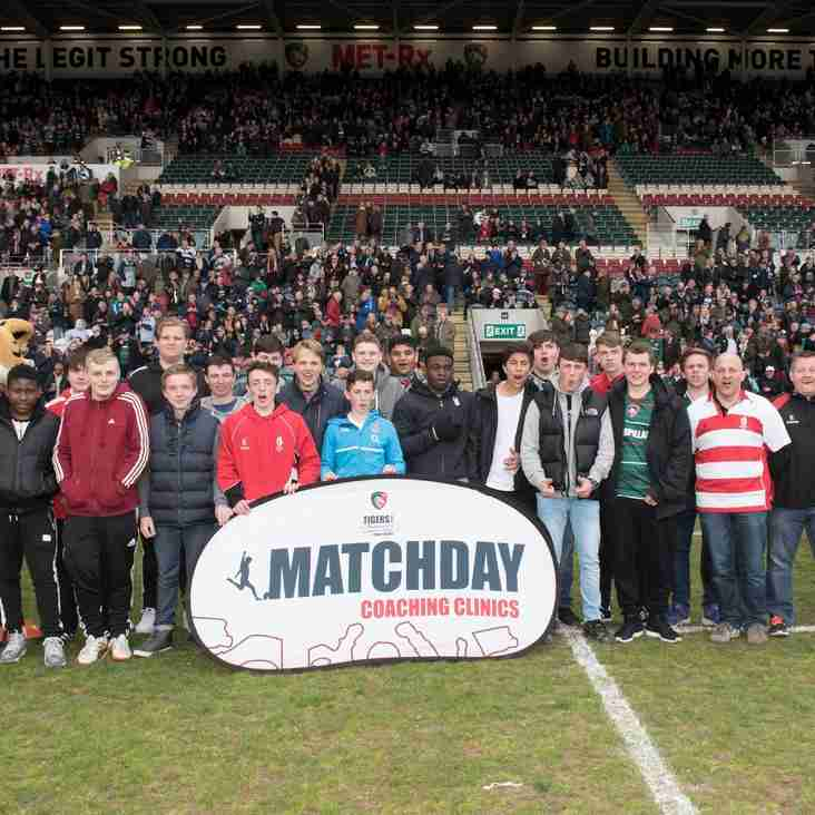 Walsall U15's Day out @ Leicester Tigers v Worcester 30th April 2016