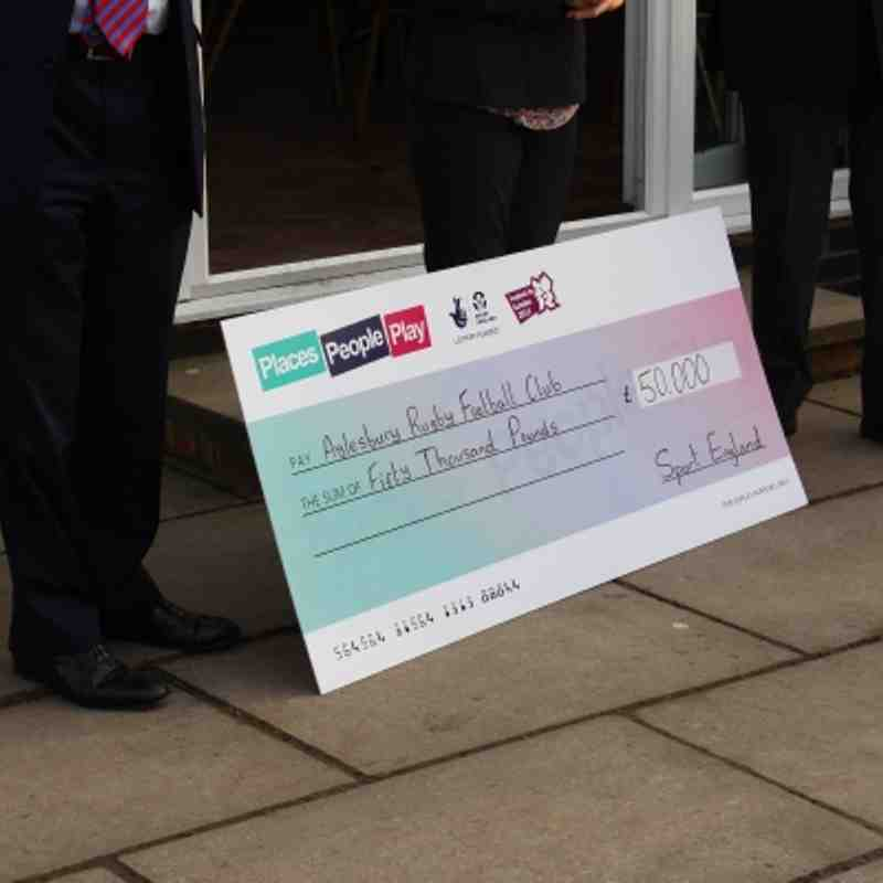 Sports England £50,000 Cheque presentation