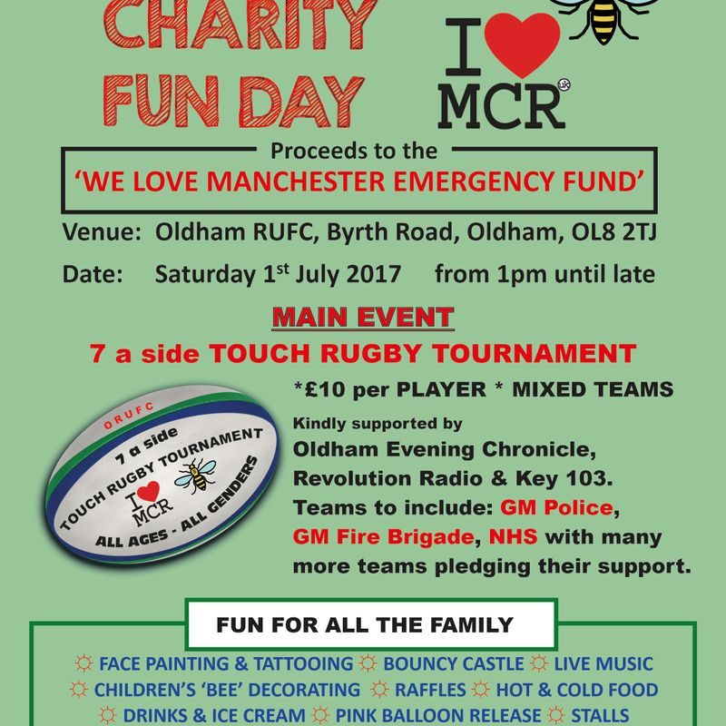 Oldham Rugby - We Love Manchester - Rugby Fun Day