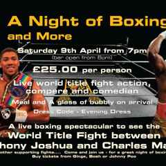A Night of Boxing - Raises £600 for Prostate Cancer UK