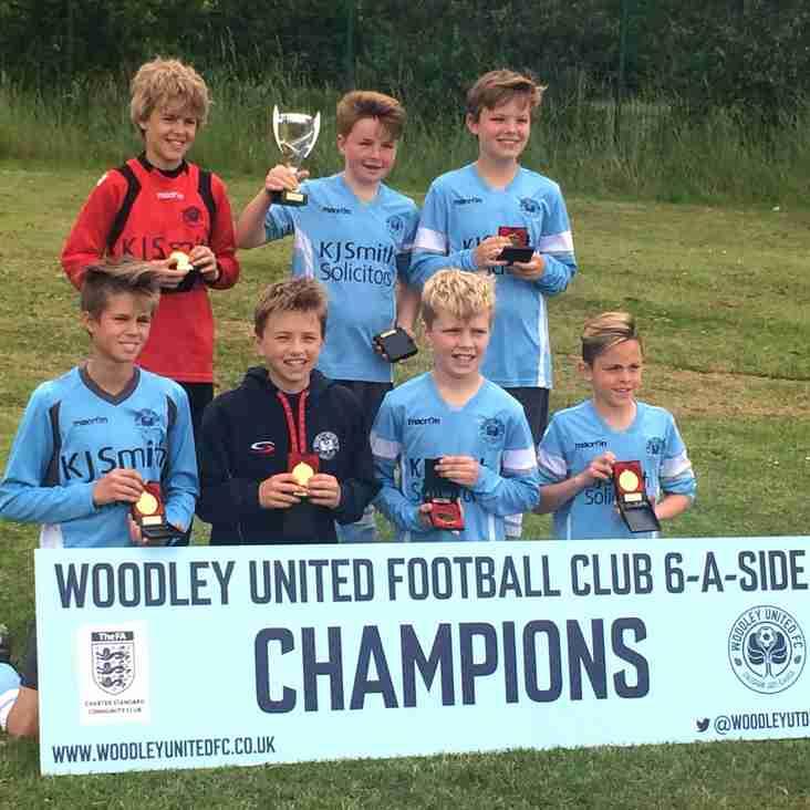u12 Spitfires win Woodley Utd Tournament