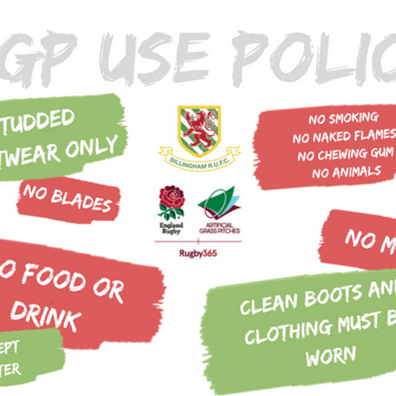 Billingham RUFC and AGP Use Policy