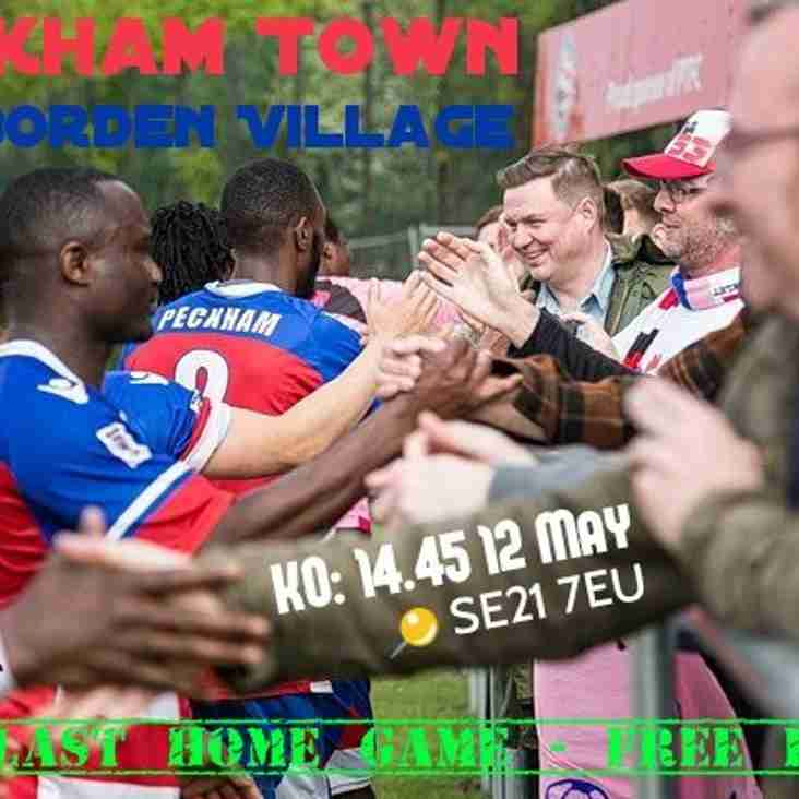 PECKHAM TOWN AT HOME IN LAST HOME GAME OF THE SEASON