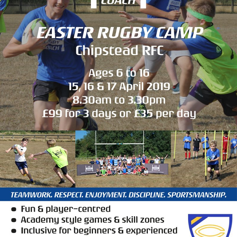 Easter Rugby Camps @ Chipstead RFC