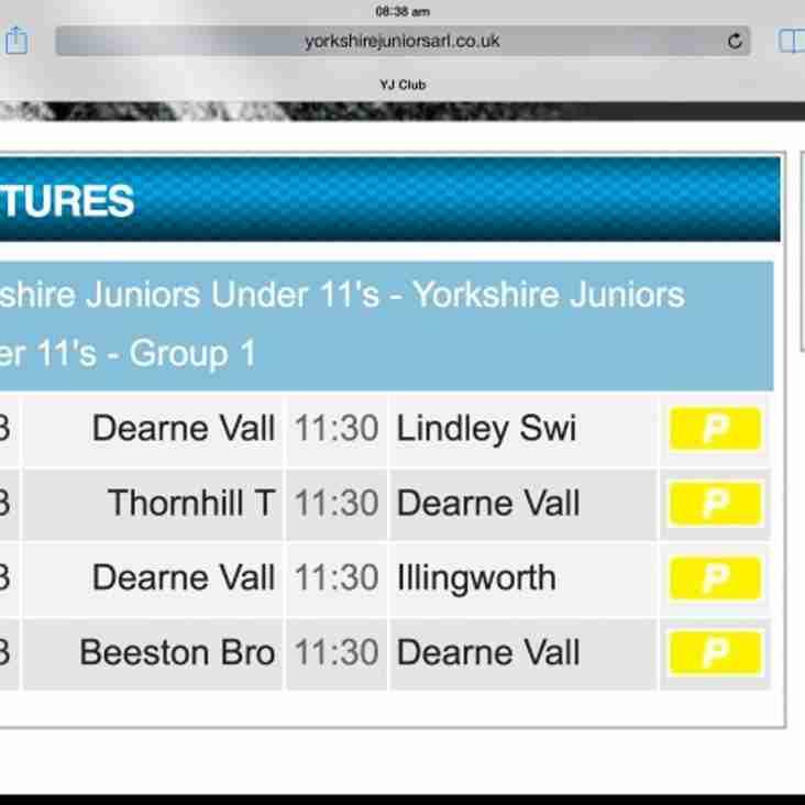 U11s fixtures