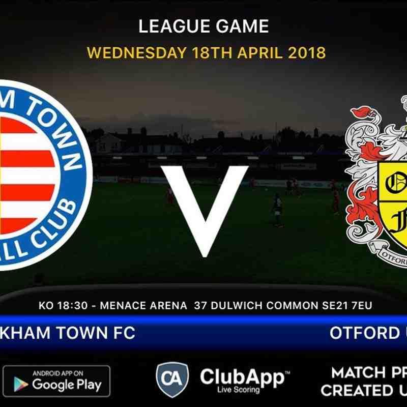 PTFC VS Otford United