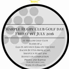 Golf Day 1st July 2016