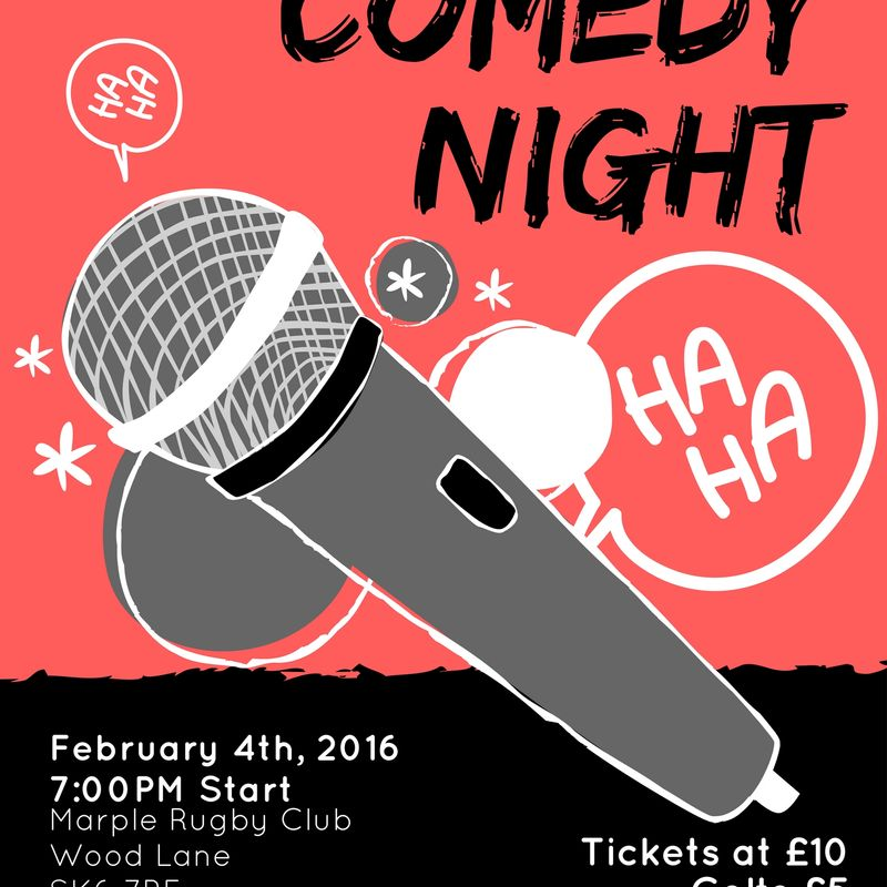 Comedy Night Saturday 4th February.
