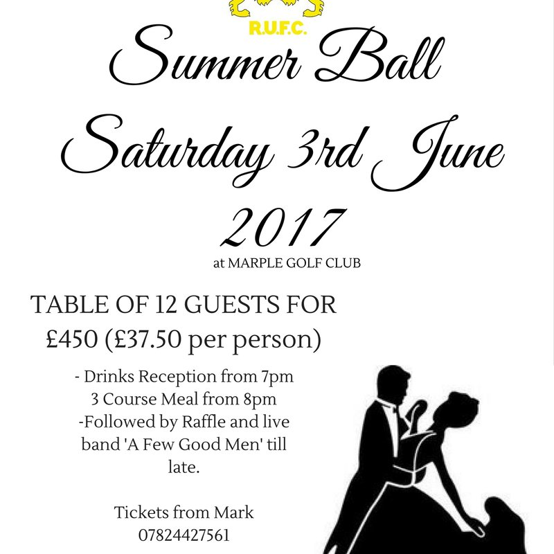 Summer Ball 3rd June 2017