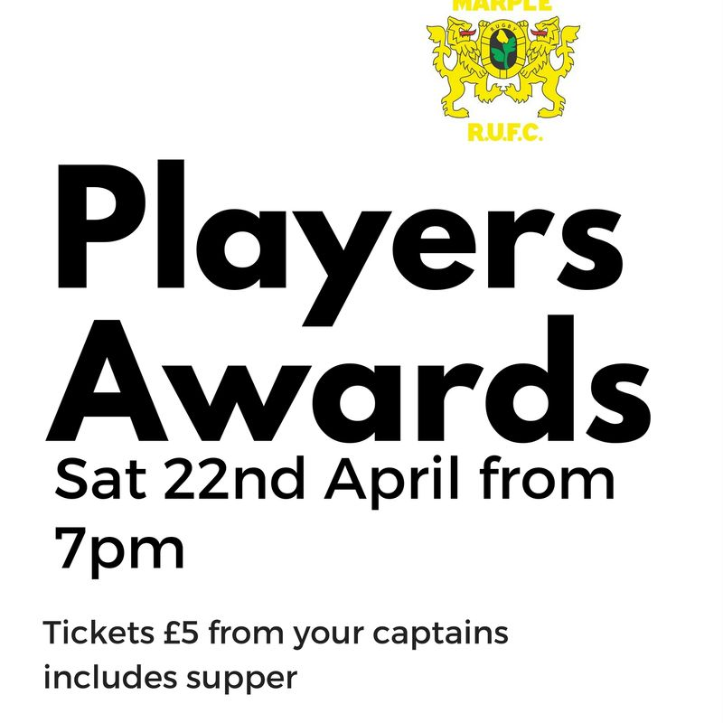 Senior Players Awards Night 22nd April