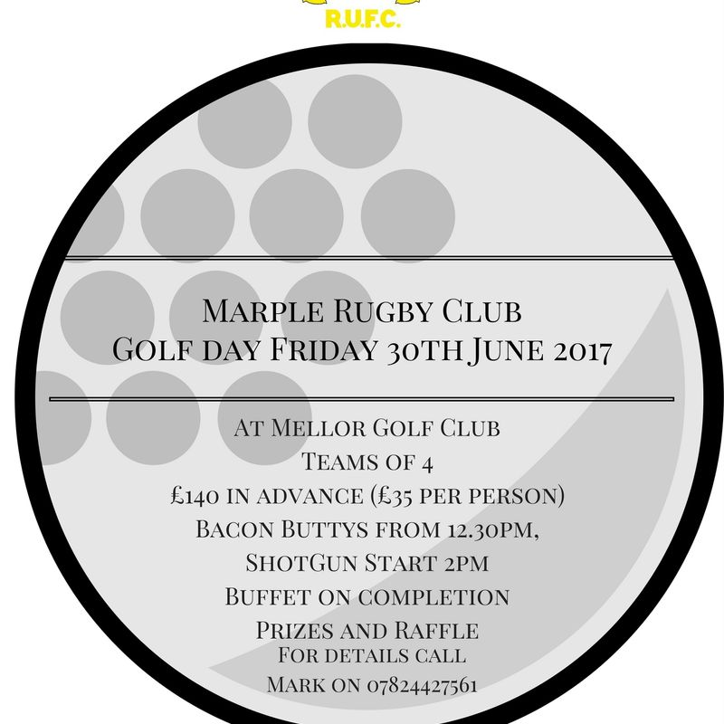 Marple RUFC Golf Day Friday 30th June