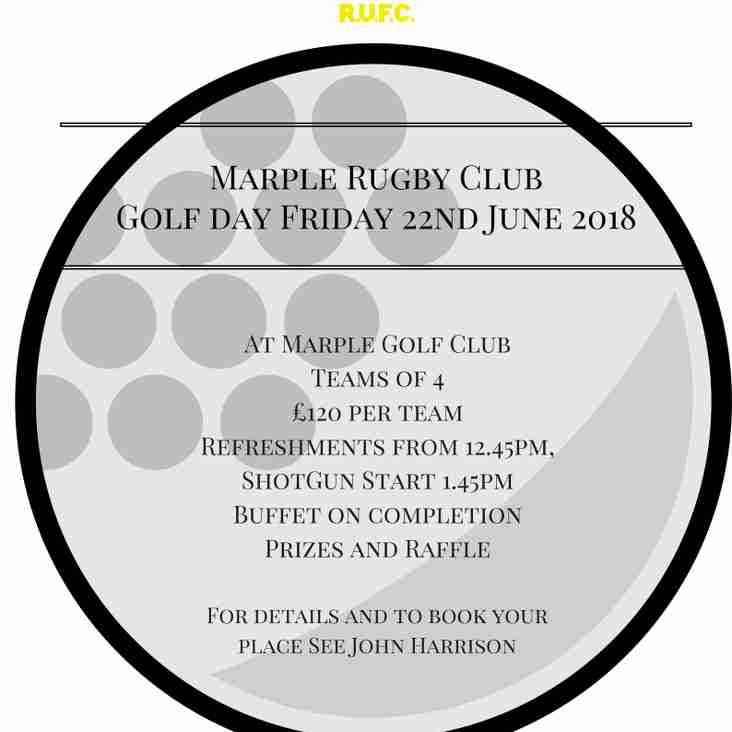 Golf Day 22nd June 2018