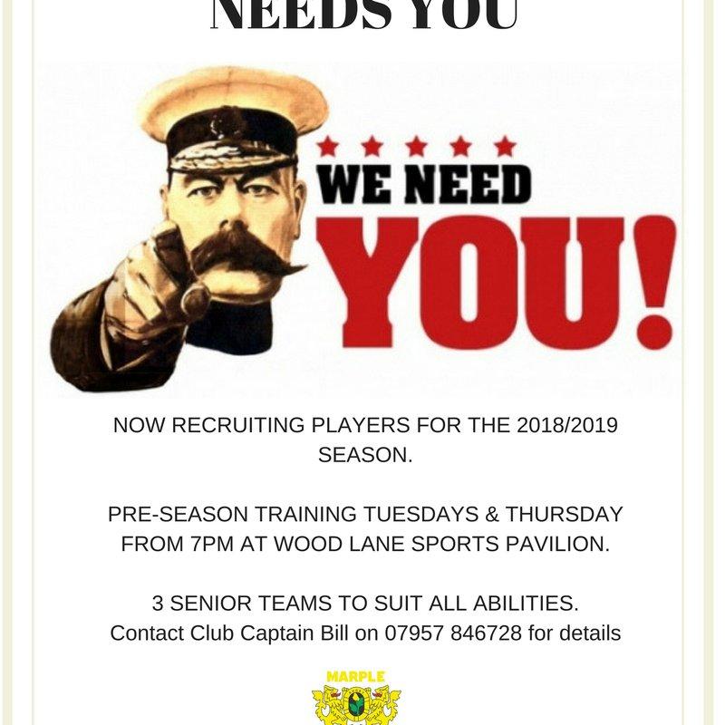 Marple Rugby Club recruitment