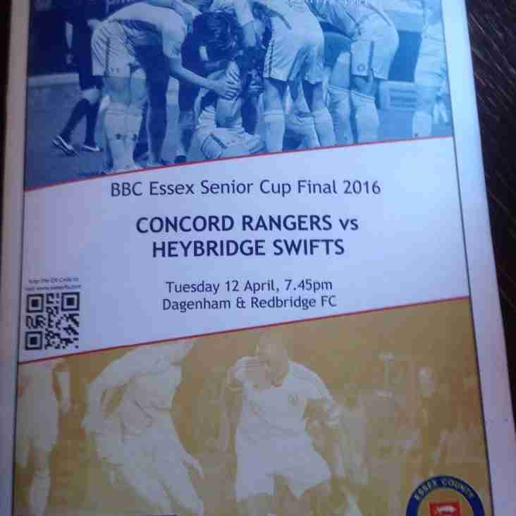 Heartache for Swifts in Essex Senior Cup final