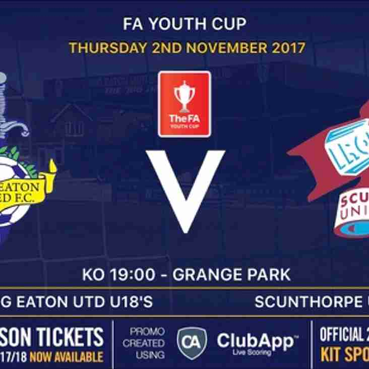 U18's drawn at home against Scunthorpe United in the FA Youth Cup