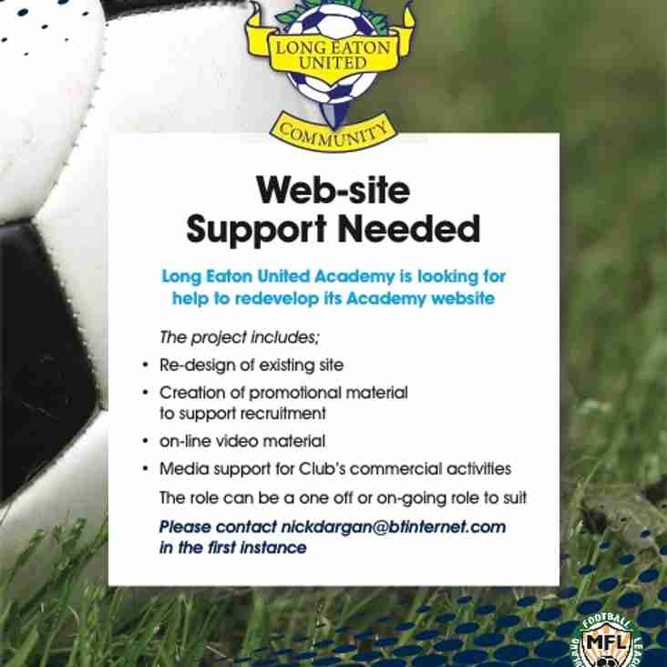 Any website designer willing and able to help develop our Community & Academy web-site please get in touch