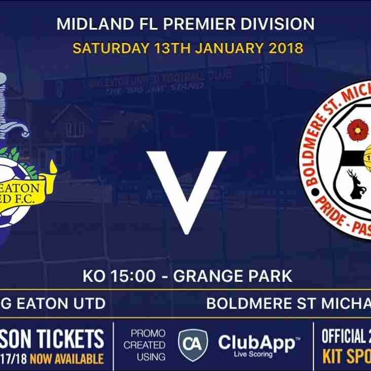 Great game in store at Grange Park tomorrow - United v Boldmere St Michaels - 3pm kick off