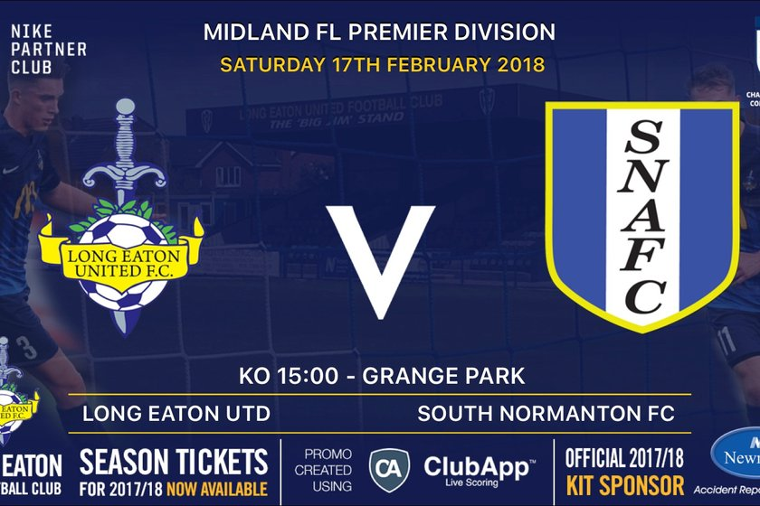 Next up for the First Team is Saturday's home game v South Normanton Athletic