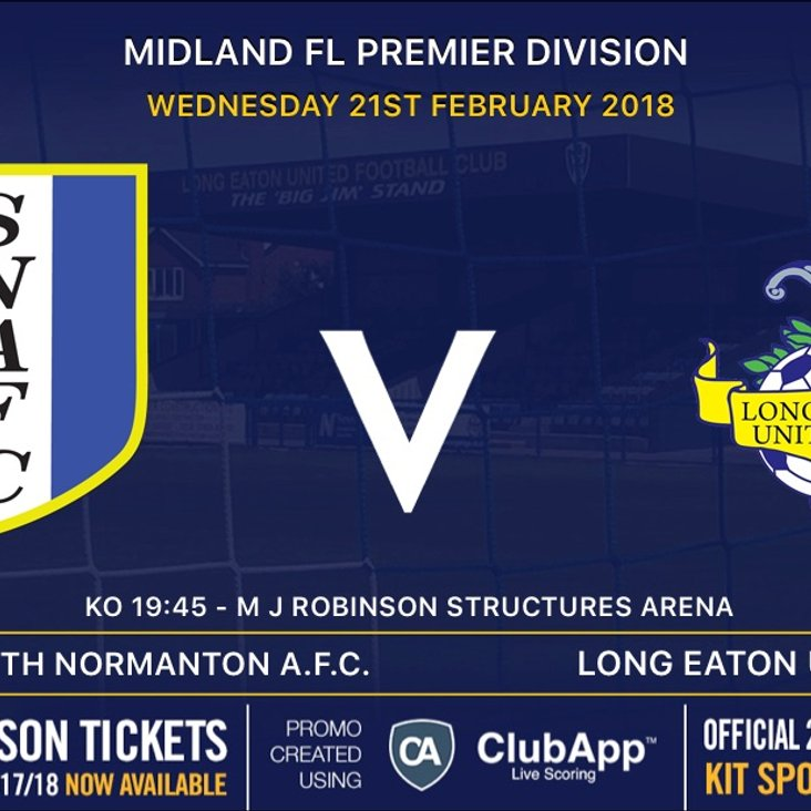 Next up for the First Team is Wednesday night&#039;s away game at South Normanton - 7:45pm ko<