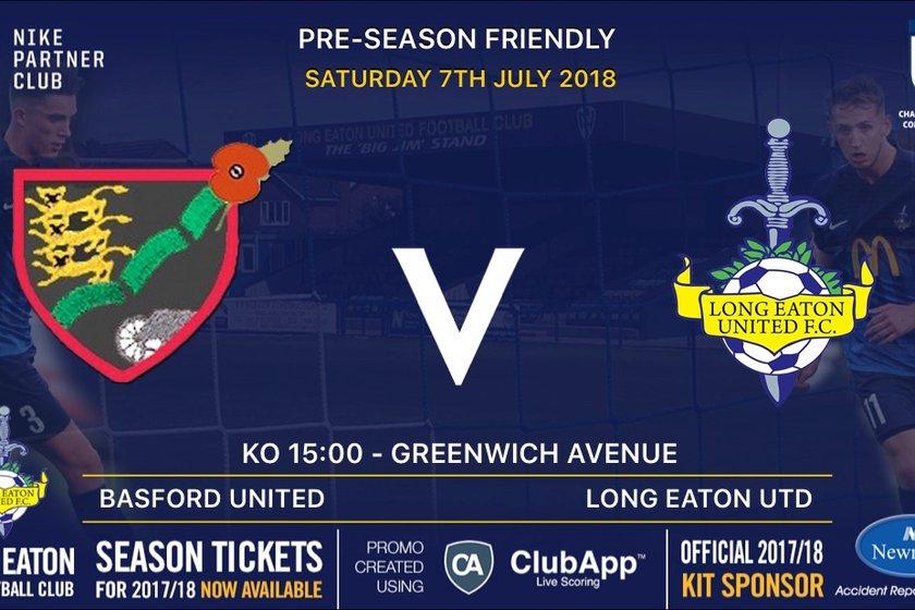 First Pre-season fixture announced - Basford United (A) - 7th July