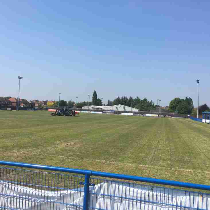 Stadium pitch now repaired and reseeded at Grange Park
