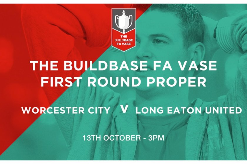 Blues drawn away against Worcester City in the FA Vase First Round Proper - 13th October