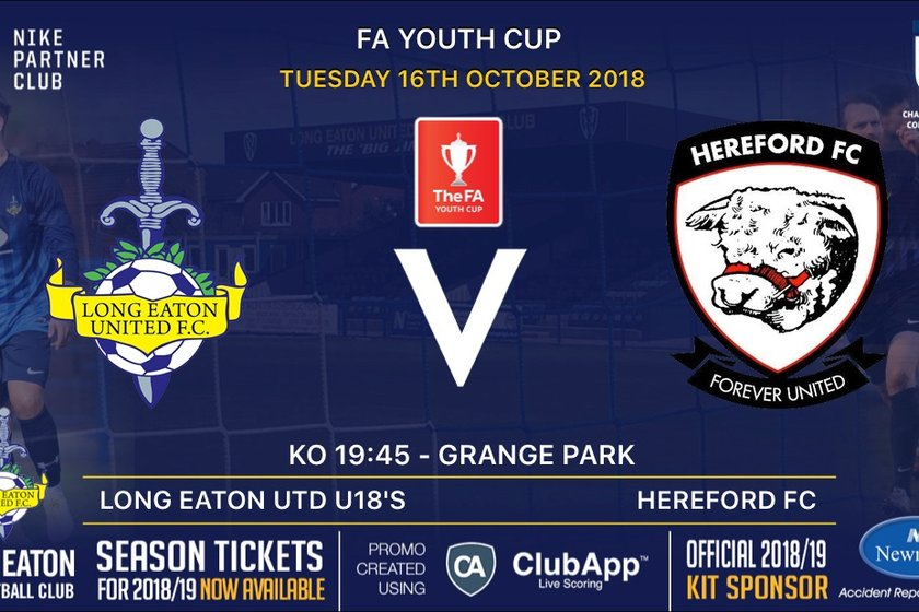 Great FA Youth Cup tie tonight at Grange Park, Long Eaton