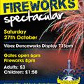 Fireworks guaranteed at Grange Park on Saturday 27th October !!!
