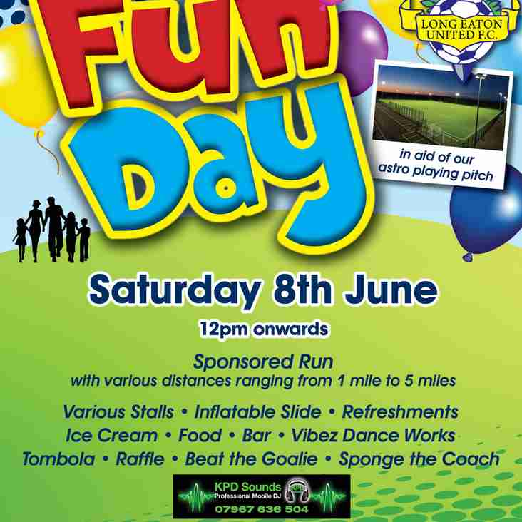 LONG EATON UNITED'S ANNUAL FAMILY FUNDAY IS BACK - SATURDAY 8th JUNE