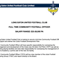 FULL TIME COMMUNITY FOOTBALL OFFICER OPPORTUNITY