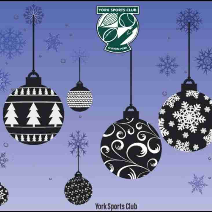 What's on @ York Sports Club during December 2016.