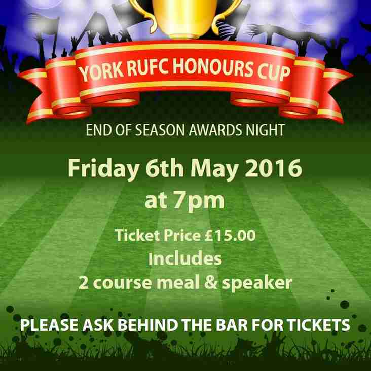 York RUFC Honours Cup