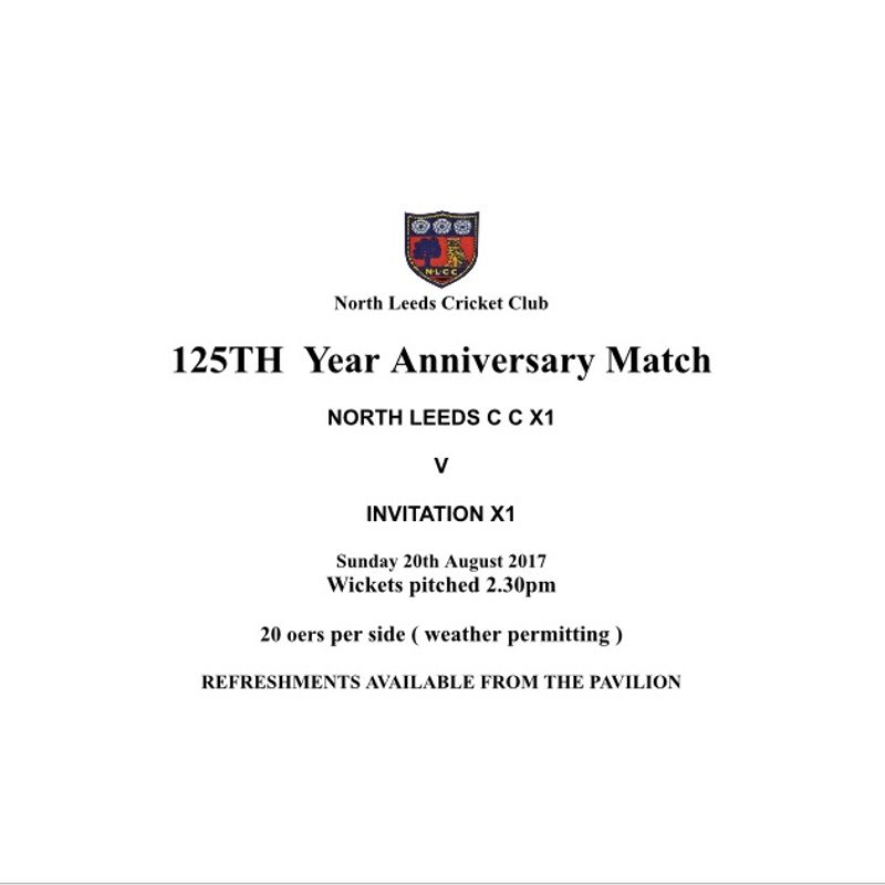 This Sunday:  NLCC 125 Birthday Celebrations
