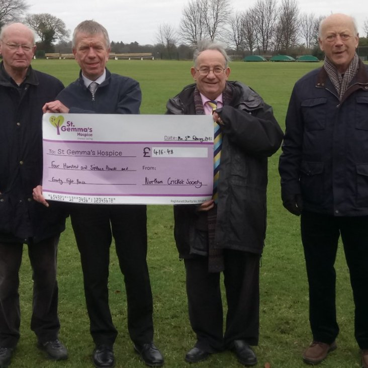 Charitable Donations to St Gemma&#039;s Hospice Top £4,000<