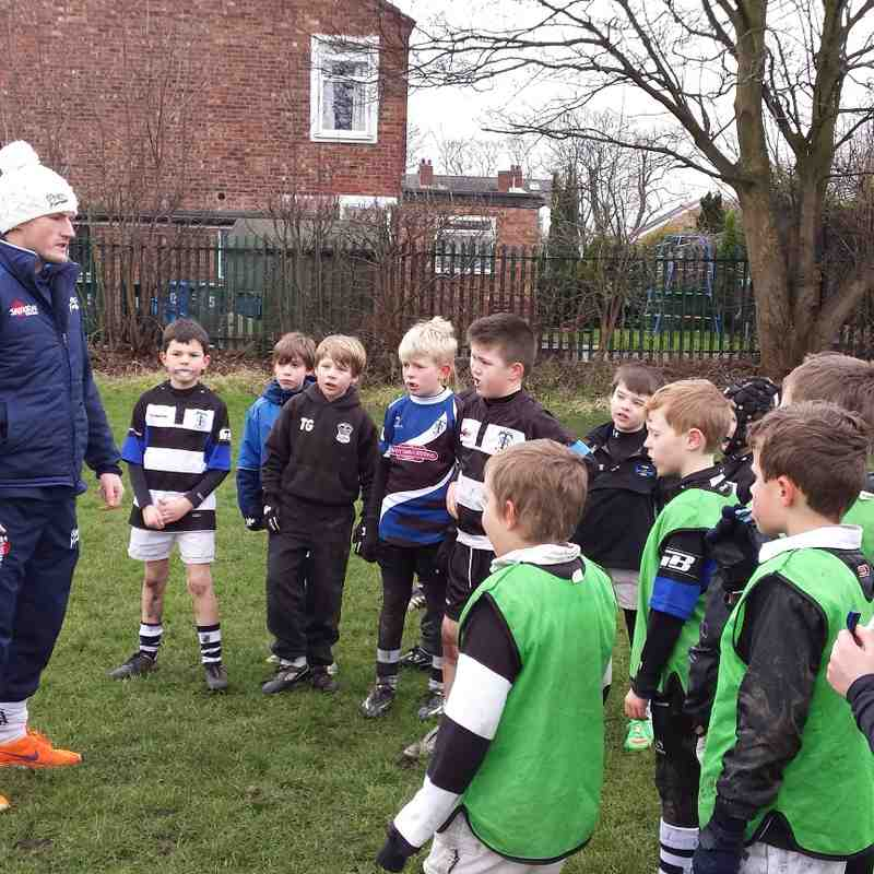 TMV U9's 22.02.15 - Coaching with Sharks