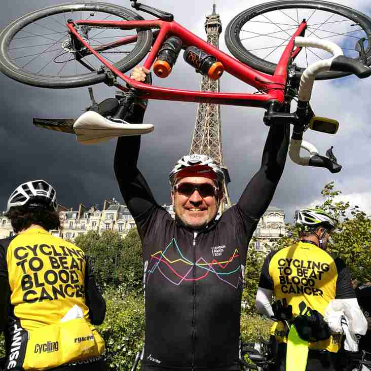 Coach, Graham Wynde cycles London to Paris for Bloodwise
