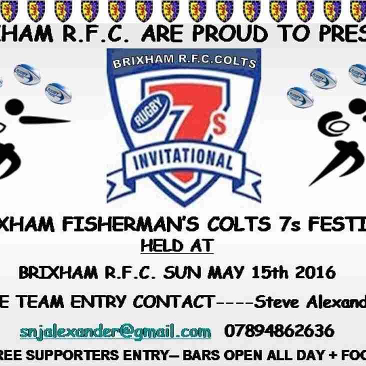 Brixham Rugby Club Invitation Colts 7s Festival