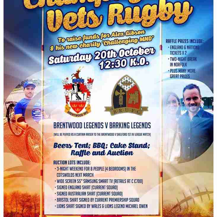 20th October - Please Support Alex Gibson's Challenging MND
