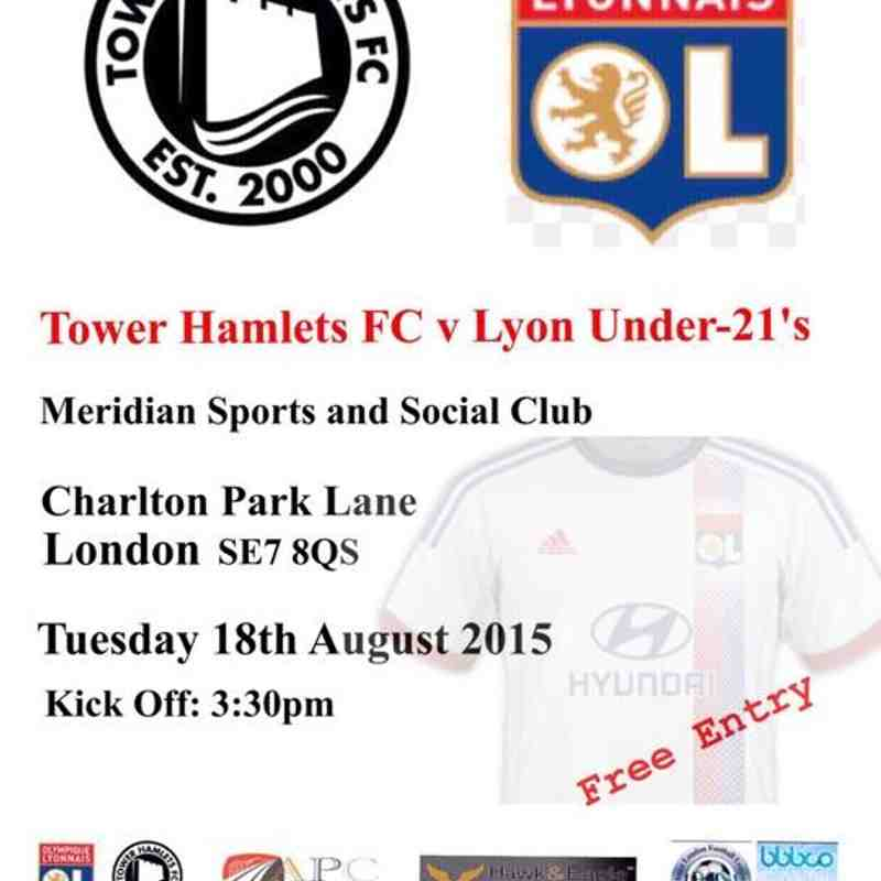 Exhibition Match: Tower Hamlets XI 1 - 1 Lyon Academy - 18th August 2015